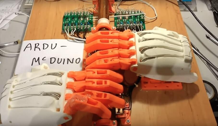 DIY 3D打印機械手模型
