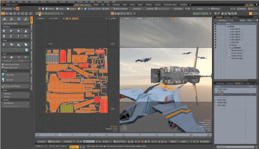 多功能的MODO 3D模型設計軟件