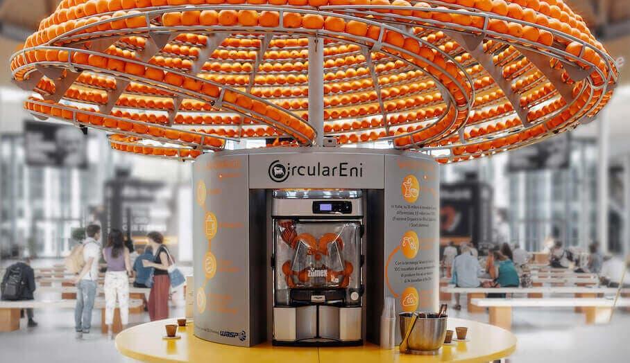 能夠3D打印橙皮製杯子的橙汁機