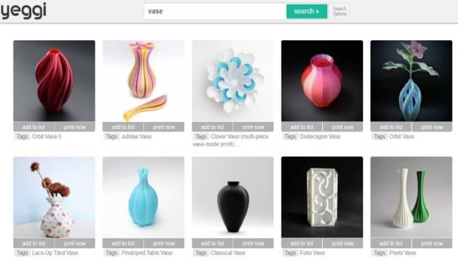 幫你找到3D模型的搜尋平台Yeggi