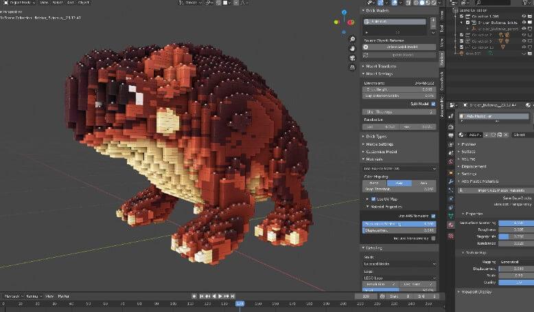 Bricker將你的Blender 3D模型轉變為LEGO設計