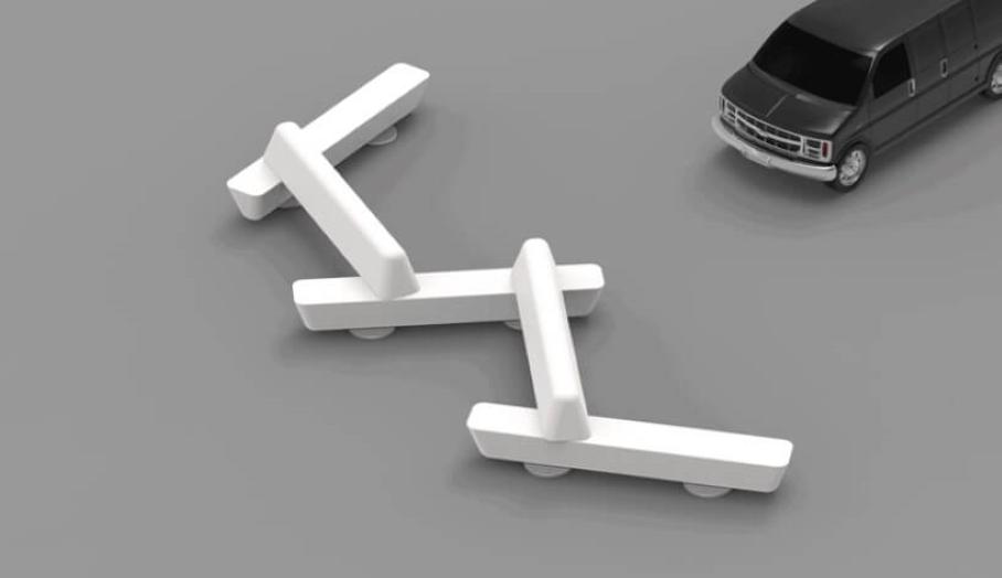 又坐得舒適又防止汽車意外的3D打印長椅