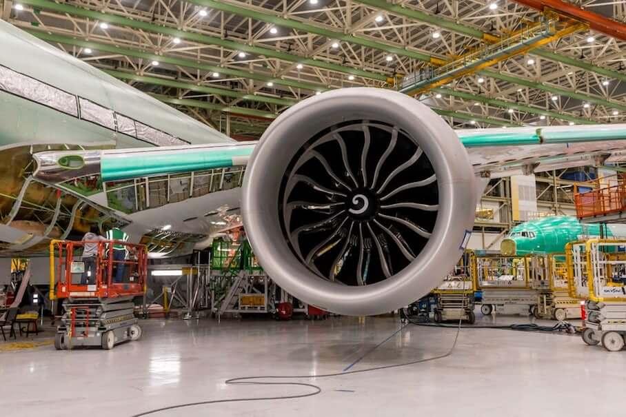 載有3D打印部件引擎的波音777X將準備起飛