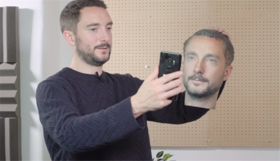 3D打印頭像可以將頂級Android智能手機解鎖