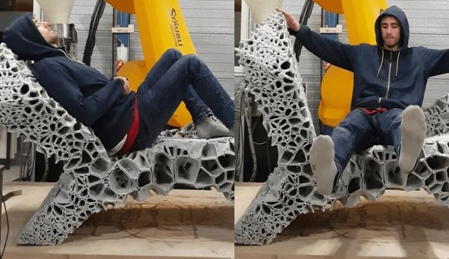 可變型的3D打印休閒椅