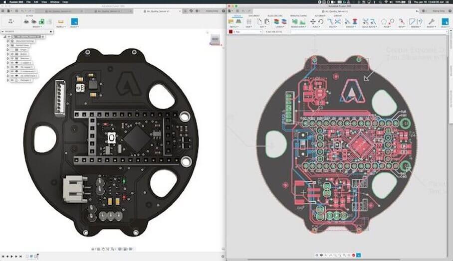 Autodesk剛剛在Fusion 360中添加了PCB 設計功能