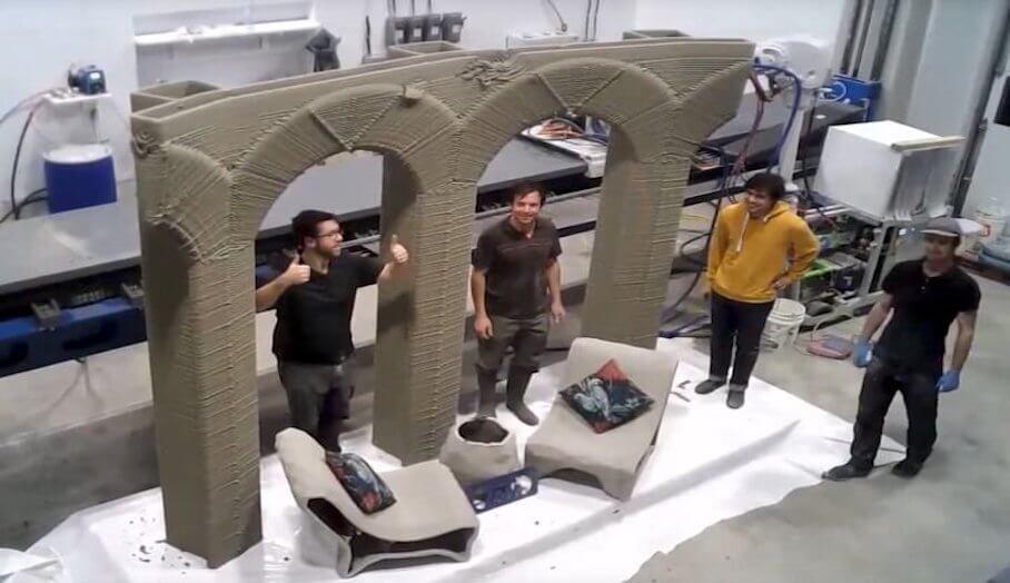 9軸混凝土3D打印機,可以完成令人驚訝的打印
