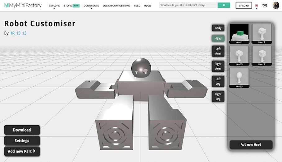MyMiniFactory發佈了可以設計個性化3D打印模型的Customizer Beta工具