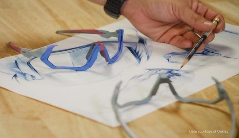 運動眼鏡品牌Oakley使用Multi Jet Fusion 3D打印技術生產功能性眼鏡原型
