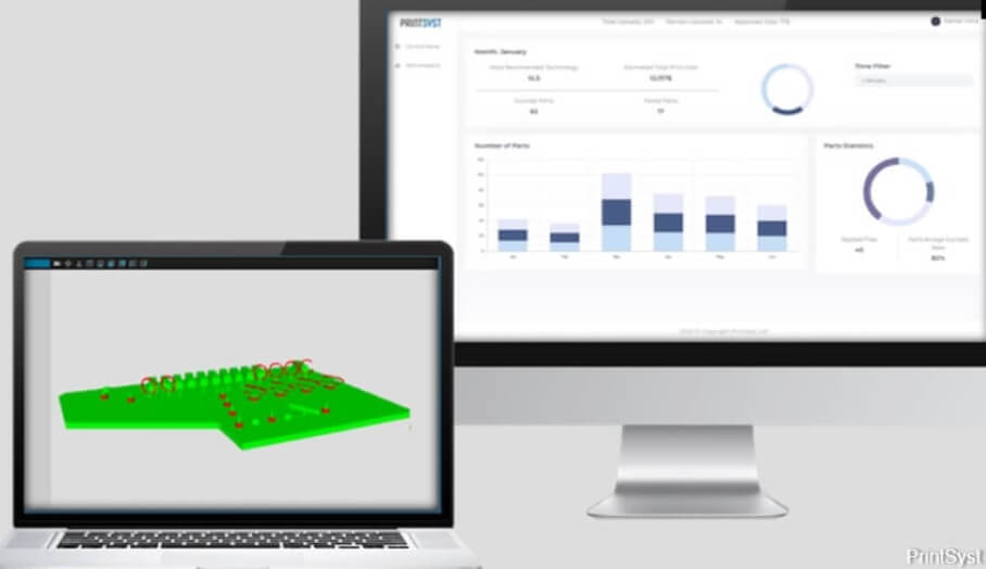 PrintSyst發佈了由人工智能推算的3D打印分析工具