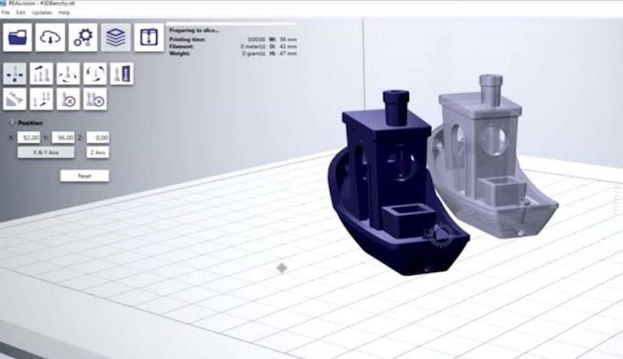 REALvision 3D打印切片軟件