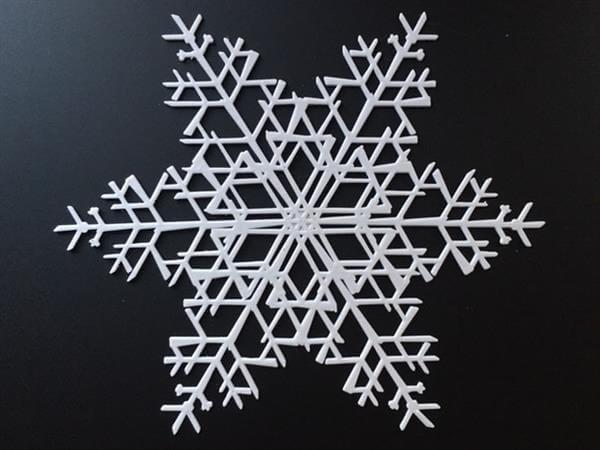 今個聖誕想不想自製一個雪花掛在聖誕樹呢?