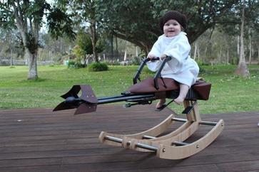 自製3D打印 Star Wars speeder bike搖椅