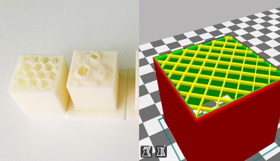 3D打印軟件中怎樣解決模型頂部穿崩(pillowing)問題呢?