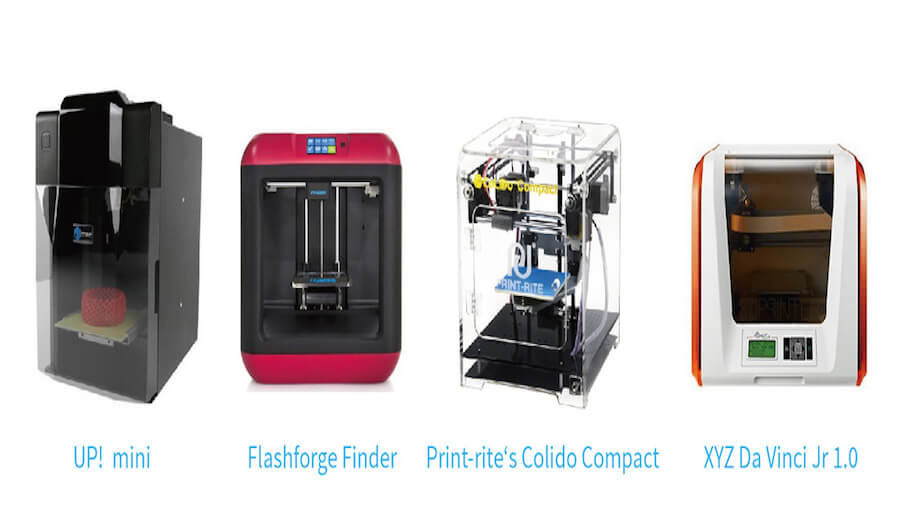 入門版3D打印機比較及評價:UP! mini , Flashforge Finder, Print-rite Colido Compact 503, XYZ Da Vinci Jr 1.0