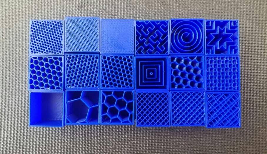 3D打印時間與填充式樣(infill pattern)之關係