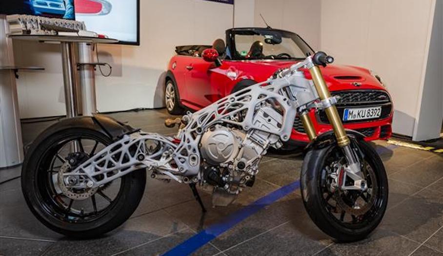 寶馬最新3D打印未來電單車