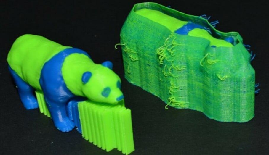 3D打印雙色時的ooze shield 功能