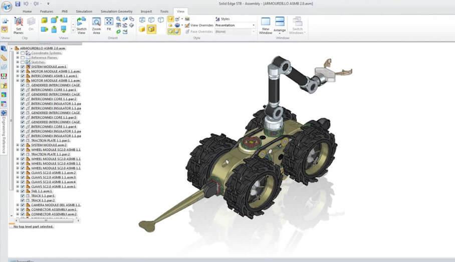 Solid Edge-讓你更方便地製作專業機械部件的3D建模軟件