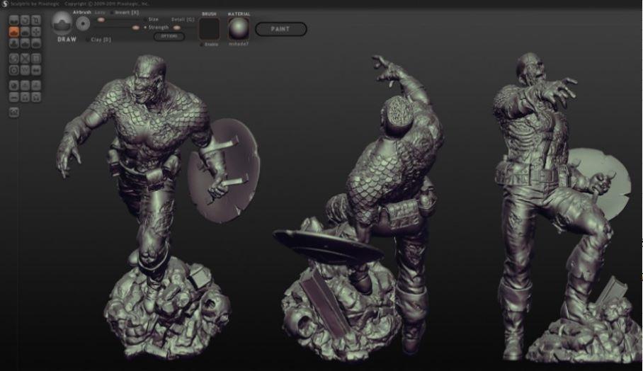 讓你製作雕塑級3D模型的設計軟件 - Sculptris