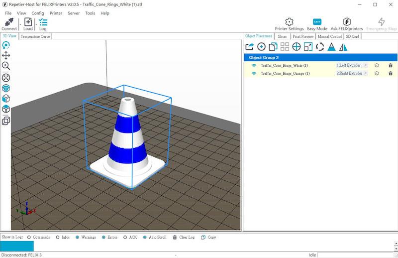 如何使用Repetier-Host 3D切片軟件打印雙色模型?