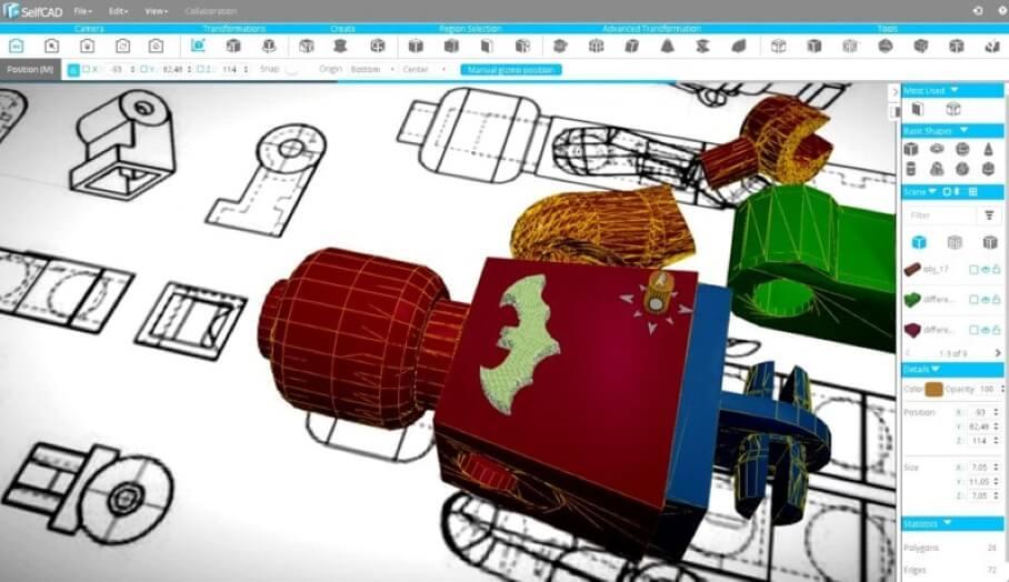 能讓學生快速上手的專業3D建模軟件SelfCAD