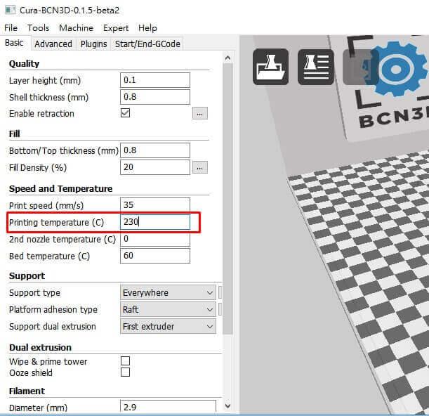 要打印好ABS要在3D打印軟件中怎樣設定呢?