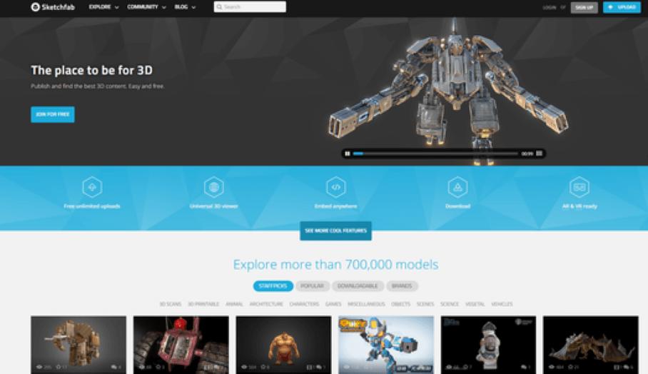 讓你利用vr虛擬實境瀏覽 750,000個3D模型的網上平台