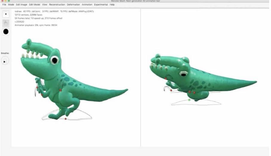Monster Mash -幾個步驟就可將3D模型變成動態的軟件