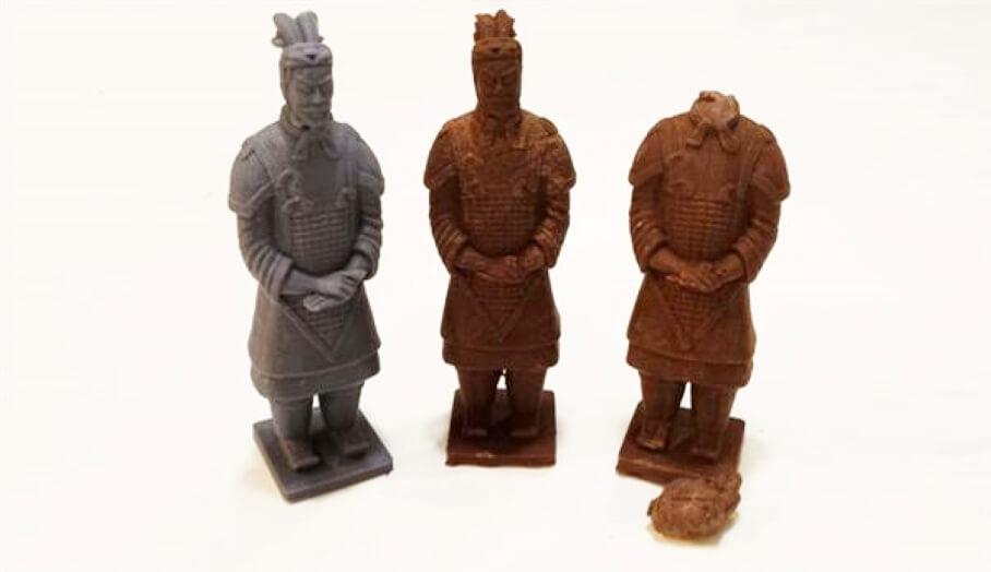 原來食得!如何製作兵馬俑3D打印巧克力