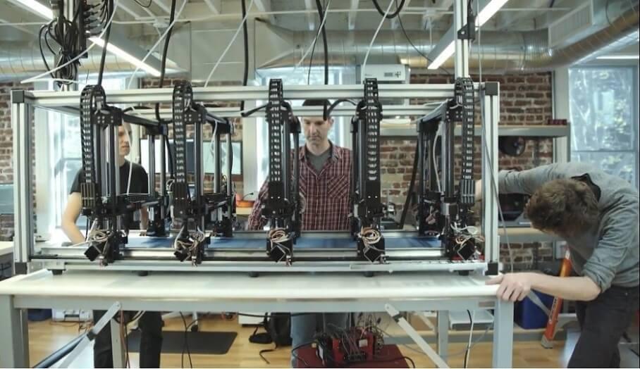 大型3d列印模型快速成型- 5個噴頭一起打
