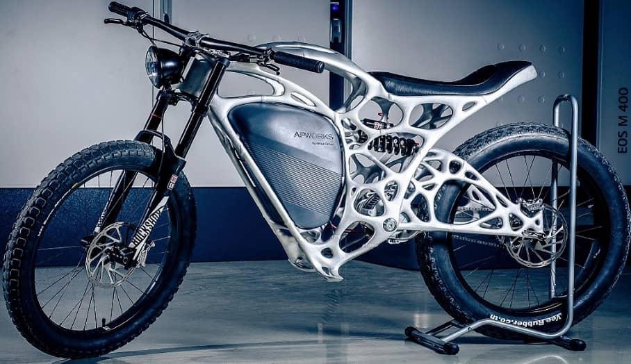 由金屬粉末3D打印而成的電單車