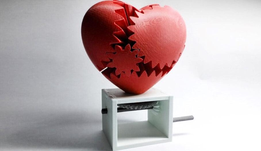 6個可活動的3D打印模型