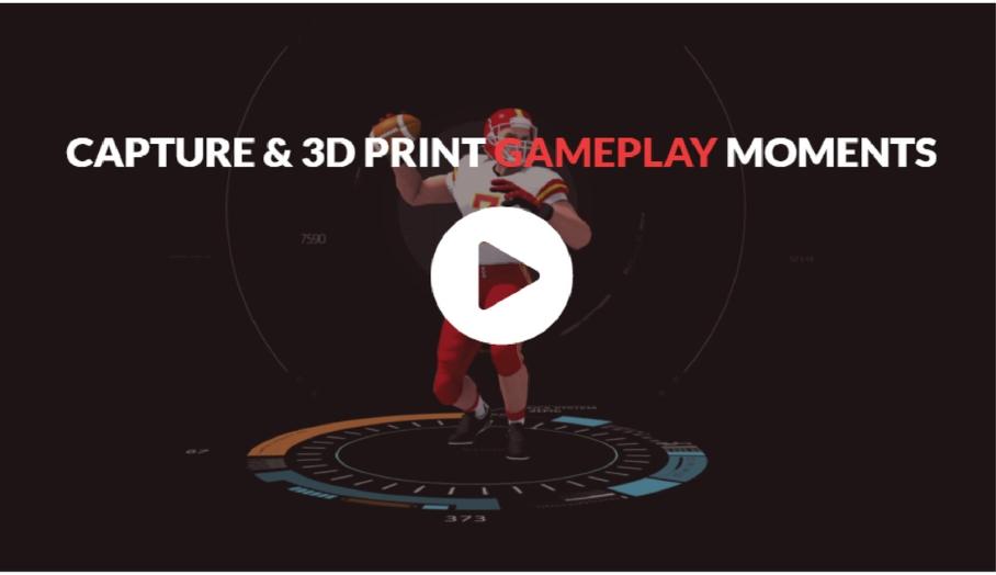 即時捕捉遊戲主角並轉化成3D模型