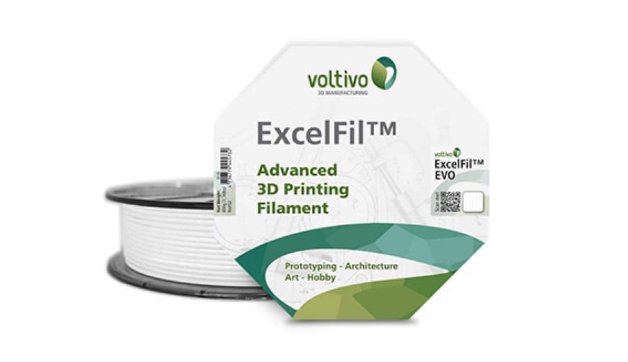 同時擁有ABS及PLA優點的革新3D列印耗材 - Voltivo ExcelFil™EVO