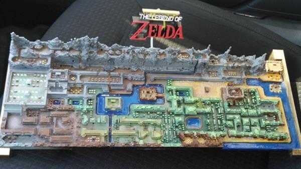 長達半年製作的經典遊戲3D打印模型地圖