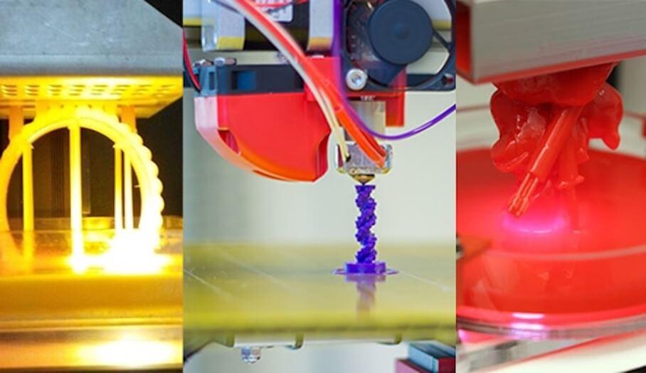 FDM,SLA, 及DLP 3D打印技術比較
