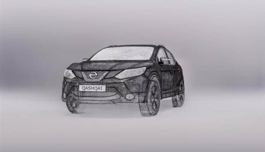 3D打印筆畫出來的一比一Nissan Qashqai四驅車
