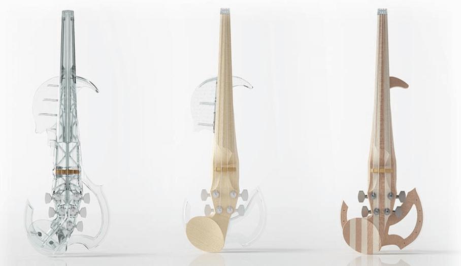 混入未來概念的3D打印電子小提琴?