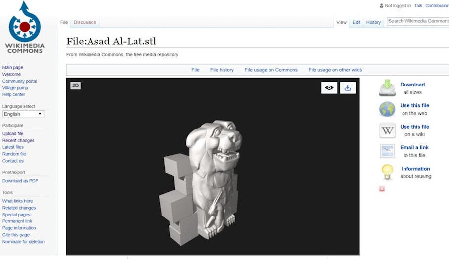 Wikimedia Commons 加入新功能—讓用家上載及下載3D打印模型檔案