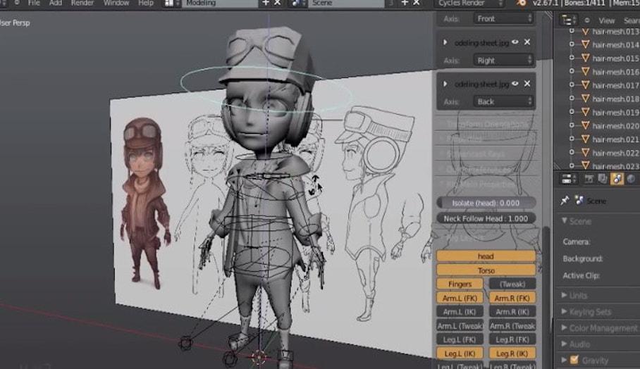 讓你製作3D卡通人物的免費3D設計軟件—Blender
