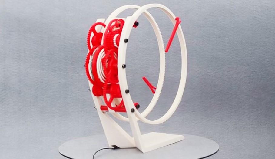 原來這個時鐘都可以3D打印出來,想自己整番個?