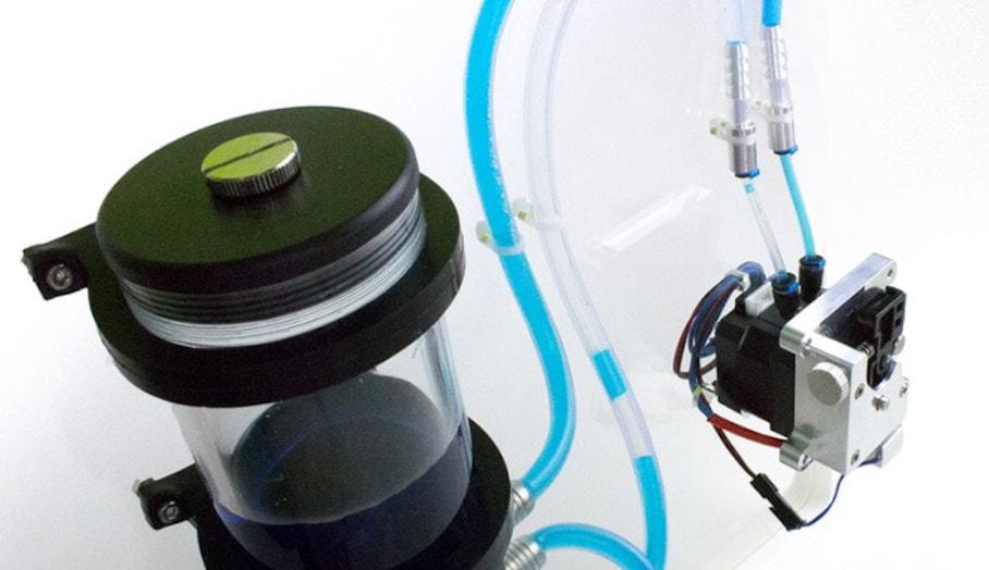 設有水冷系統的超級3D打印噴頭?