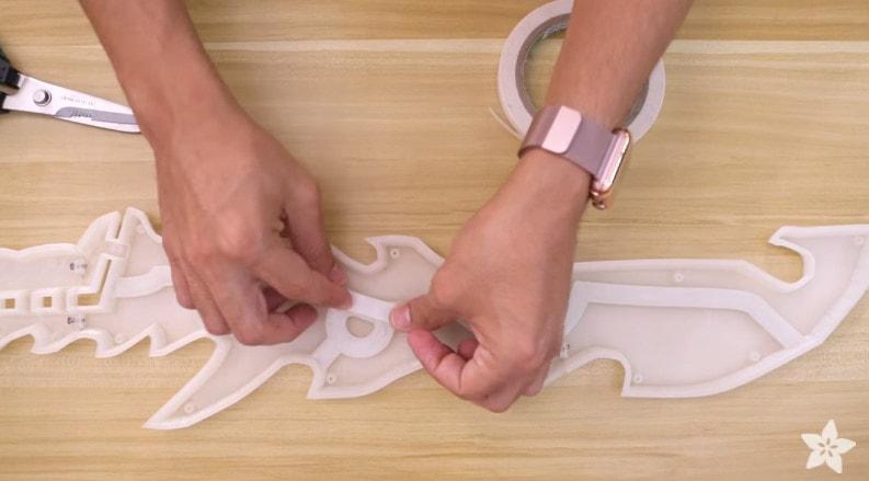自製會發光的3D打印遊戲道具