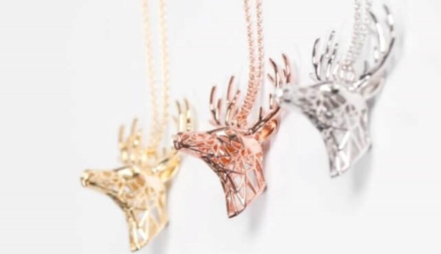 金屬3D打印動物首飾-1 (1)