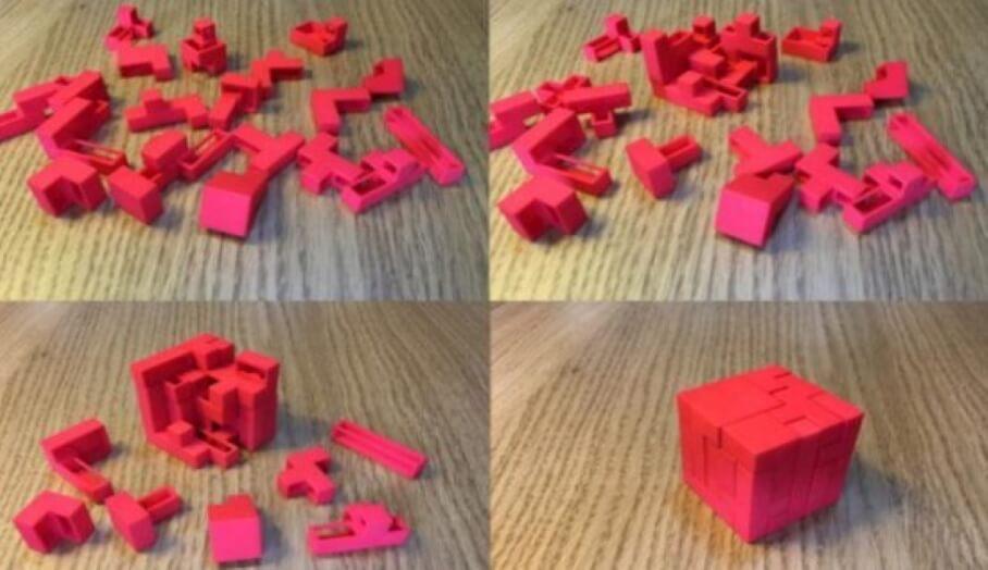 非常有挑戰性的3D打印俄羅斯方塊
