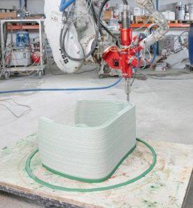 利用混凝土3D打印出漸變顏色的家具?2