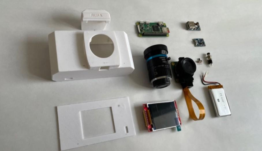 RUHAcam 是一款可以 3D 打印的 Raspberry Pi 驅動的數碼相機5