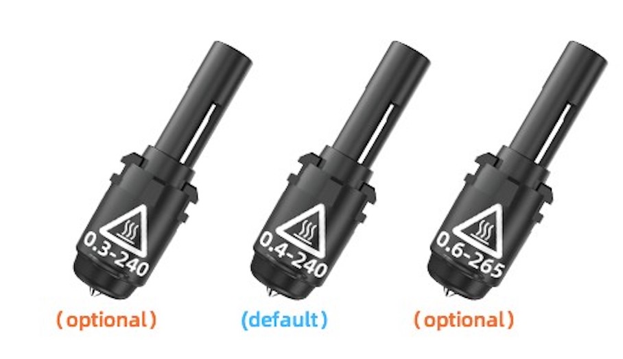 Flashforge Adventurer 4 有不同噴嘴-對3D打印有什麼好處 1